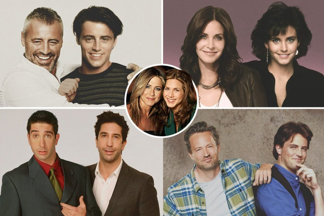 Friends stars pose alongside their younger selves in amazing portraits ahead of reunion episode