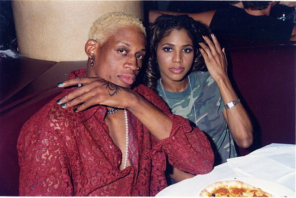 Dennis Rodman and Toni Braxton back in the day