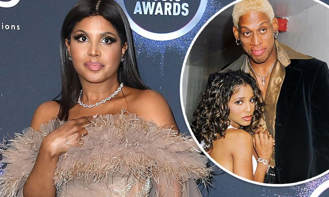 Toni Braxton has denied that she was one of former basketball superstar Dennis Rodman's string of famous women in the 90s, after pictures of the two together surfaced during an airing of another episode of ESPN's The Last Dance. (Pictures by WireImage and FilmMagic Inc)