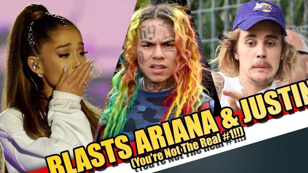 Tekashi 6ix9ine claims Billboard chart manipulated to suit Justin Bieber and Ariana Grande