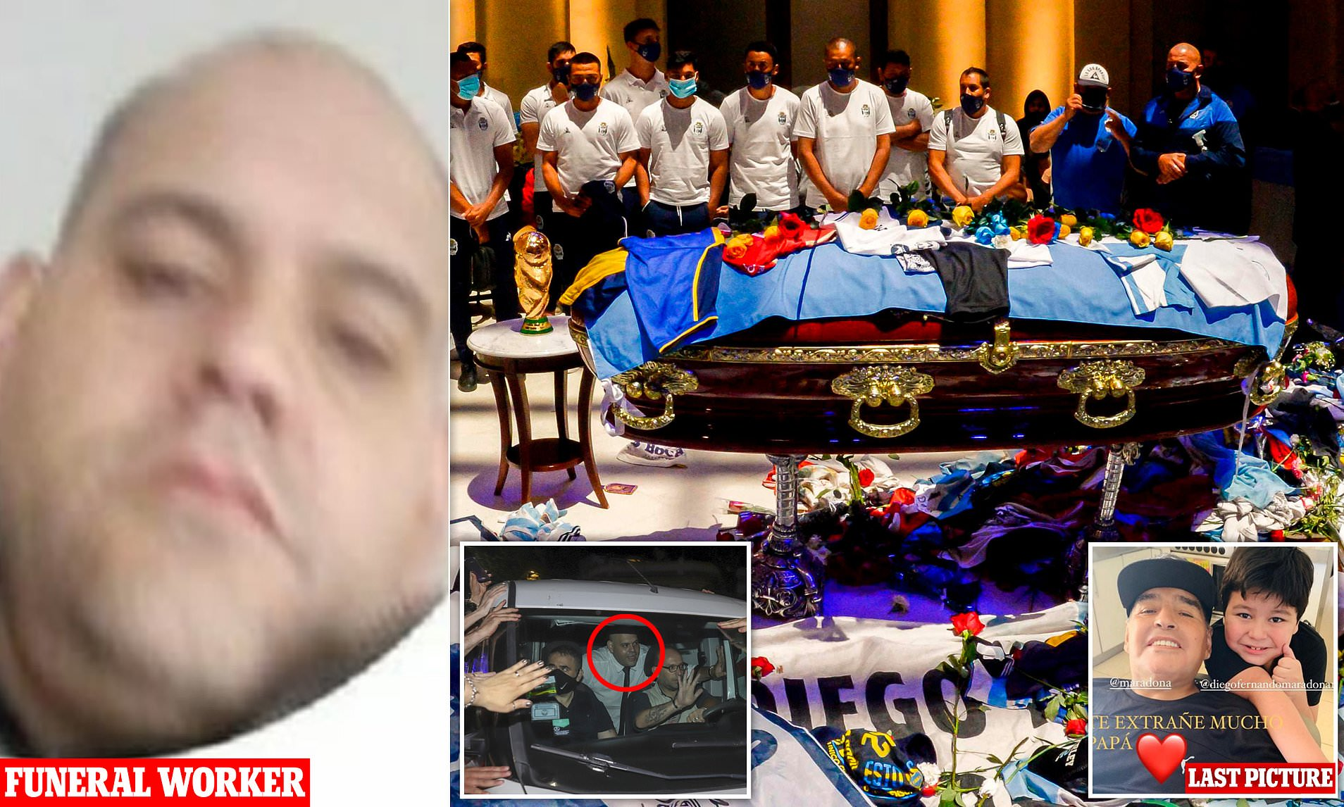 A worker at a funeral parlour has been fired after posing for a selfie with Diego Maradona's corpse. He allegedly opened up Maradona's coffin and struck a thumbs up pose.