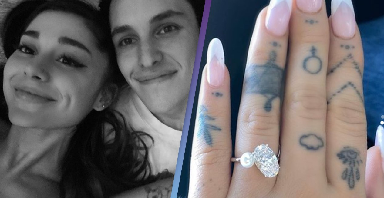 Pop star Ariana Grande engaged! Shows off massive diamond ring