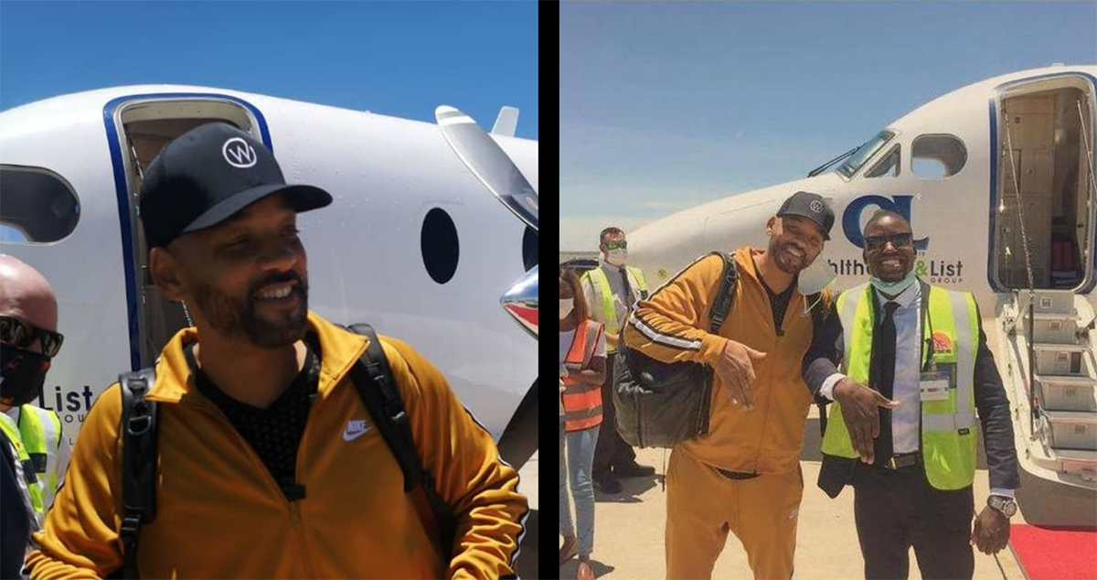 Hollywood superstarWill Smithlanded in Namibia on a 10 day visit to shoot National Geographic's documentary show 'One Strange Rock.'