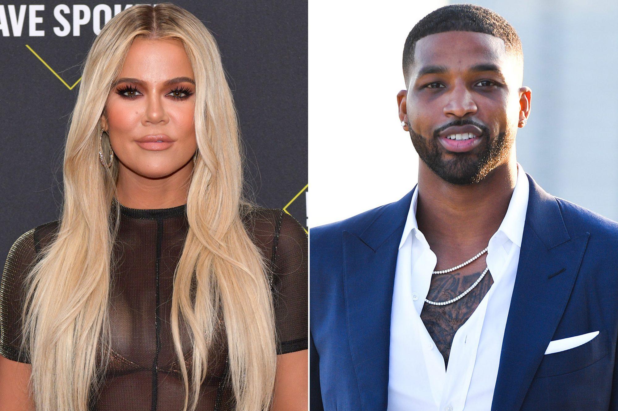 Reality TV star Khloe Kardashian and partner Tristan Thompson