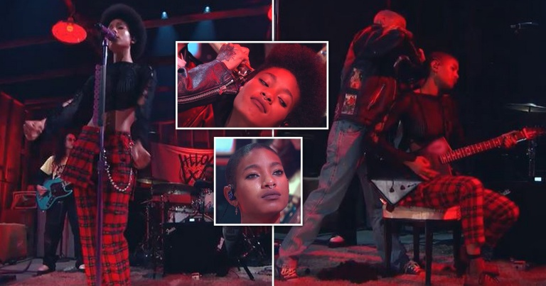 Eccentric musician Willow Smith stopped singing to shave her head on stage during a Facebook Live event to mark the release of her new album.