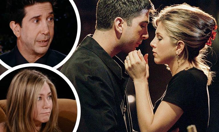 Friends stars Jennifer Aniston and David Schwimmer